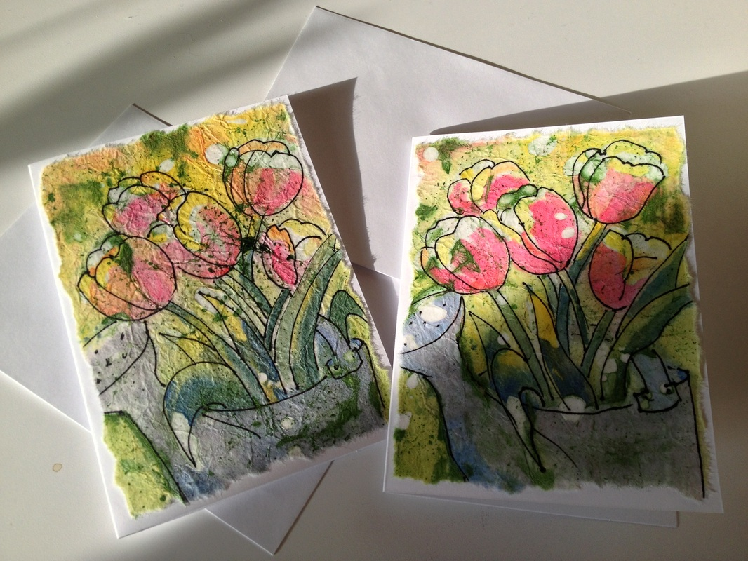 Greeting cards postcards maryann dunn watercolors water pail batik greeting cards kristyandbryce Gallery